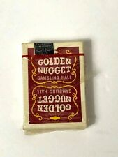 Vintage Red Golden Nugget Playing Cards 1970's Sealed and Cellophane wrapped