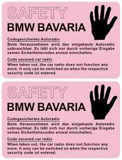 2x BMW SAFETY BAVARIA   AUTO ALARM AUFKLEBER   FOLIENAUFKLEBER SCHEIBENAUFKLEBER