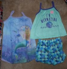 NEW The Children's Place Girls Toddler 3 Piece Set 2T Shirt Shorts Mermaid NWT