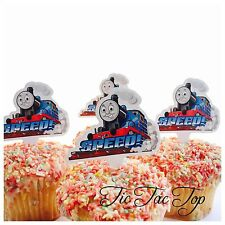 12x THOMAS THE TANK ENGINE CUPCAKE CAKE TOPPERS Party Jelly Cup Food Picks