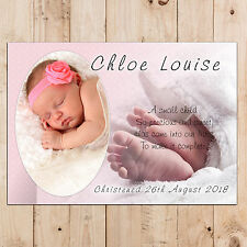 Personalised Girls Christening Baptism Naming Day Party PHOTO Poster Banner N20