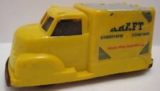 Old Plastic Tin Friction Ad Toy KRAFT Cheese Truck Conway Skokie Ill 1940s as is