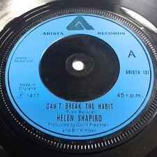 HELEN SHAPIRO  Can't Break The Habit  ORIGINAL UK 1977 Arista Vinyl Single