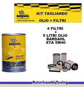 Set Entretien 5 Litres Huile Bardahl + 4 Filtres Fiat Multipla 1.9 Mtj 88KW