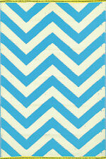 Trendy New Chevron Outdoor/Indoor Mats (Blue) -Modern Floor Rug 150cm X240cm