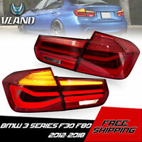 VLAND Tail Lights LED Red Sequential For 2013-2018 BMW 3 Series F30 F80 M3 Sedan