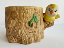 Vintage Relpo? Ceramic Baby Bird Worm Planter Anthropomorphic Tree Cute!!