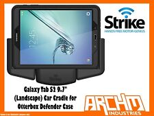 "STRIKE ALPHA SAMSUNG GALAXY TAB S2 9.7"" CAR CRADLE OTTERBOX DEFENDER LANDSCAPE"