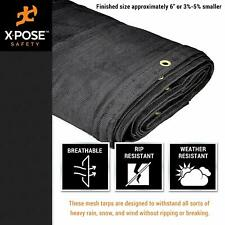 Heavy Duty Mesh Truck Tarp , Multipurpose Black Protective Cover with Air Flow