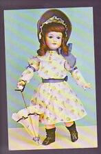 Art Doll Umbrella Delaware Doll Collector Club 1991 Old Vintage Postcard