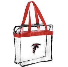 NFL Atlanta Falcons Clear Zipper Tote Bag 2017 Stadium Approved