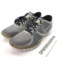 Nike Free Trainer 3.0 V4 NFL Super Bowl 50 Men's 12 Gold Black Shoes 749374 070
