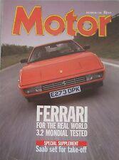 Motor magazine 7/5/1988 featuring Ferrari Mondial road test, Mitsubishi Galant