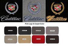 Lloyd Mats Cadillac Crest & Word Classic Loop 4pc Floor Mats (1941-2001)