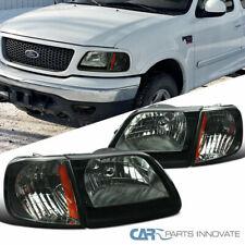 Ford 97-04 F150 97-02 Expedition Pickup Smoke Headlights+Signal Corner Lamps
