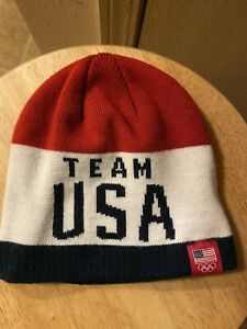 2017 Official Team USA Olympic Knit Ski Hat  Adult  Size