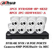 Dahua 8CH Security Systems 8PoE Kits IPC-HDW4431C-A & NVR4208-8P-4KS2