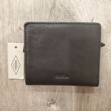 Fossil Emma Mini Multi RFID Blocking Wallet Black Leather 4 x 3.5