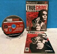 True Crime: Streets of LA (Sony PlayStation 2, 2003) with Manual - Tested