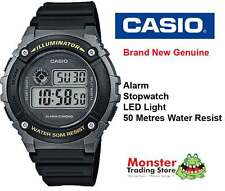 AUSSIE SELER CASIO GENTS W-216H-1BVD 50 METRES WATER RESIST 12-MONTH WARRANTY