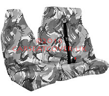 Renault Trafic (01-14) URBAN GREY Camo CAMOUFLAGE Waterproof VAN Seat COVERS 2+1