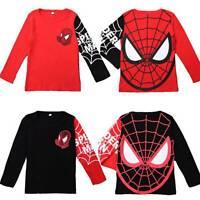 Kids Boys Spider-Man Cartoon Long Sleeve T-Shirts Tee Sweatshirt Pullover Tops