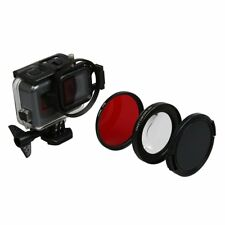 58mm 16x Magnification Magnifier Macro Red Lens UV Filter For GoPro Hero 5 6