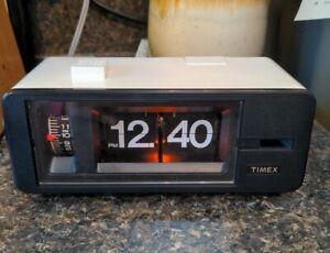 NOS Timex 5102-401 Digital Alarm Clock Flip Number 1980's