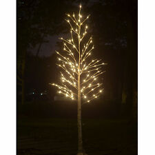8FT Birch Tree Christmas 132L LED Light Tree Tall W/ Icicle Twinkling Decoration