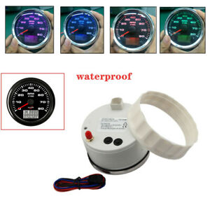 Digital Waterproof Backlight 8K RPM Tachometer With Hourmeter For Car SUV Boat