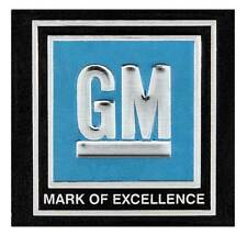 "1968-72 GM Cars & Trucks - ""GM Mark of Excellence"" Seat Belt Buckle Decal - Blue"