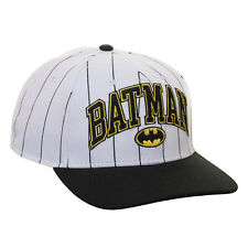DC Batman Pinstripe Snapback Hat NEW