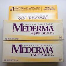 (2) Mederma Skin Care for Scars Cream + SPF 30 .70 OZ - NEW EXP 10/16