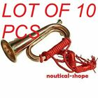 Real Copper & Brass Boy Scout Bugle Sound Horn Red Strong Rope