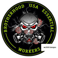 Brotherhood of Essential  Worker Round Oval Sticker Decals Made in USA IBEW/UAW
