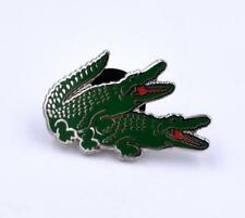 "1"" ALLIMATERS HARD ENAMEL POLISHED SILVER PLATED LAPEL PIN BY YESTERDAYS CO."
