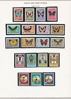 Papua stamps (only) x 19,1966 topicals, butterflies, sports, culture, SCV $33.30