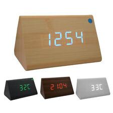 Triángulo Digital Led De Madera Escritorio Alarma Reloj multifunción para oficina en casa 66