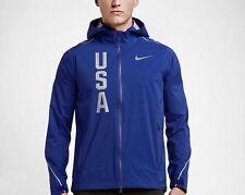Nike Hypershield Olympic Team USA Jacket Men M Blue 806908-455 $350 Running NWT