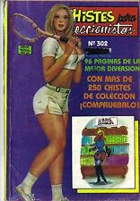CHISTES PARA COLECCIONISTAS N.-302 from 1989 MINA Mexican Comic Jokes Sexy Girls