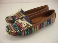 Women's 7 M Roper Chenoa Southwestern Serape Driving Moccasin Shoes Loafer Flats