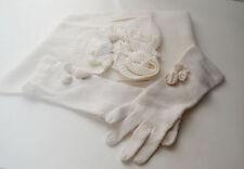 Talbots Scarf & Gloves Set Ruffle Flowers Acrylic
