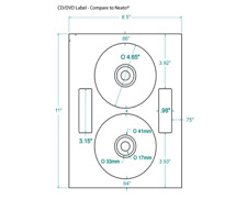 200 CD/DVD Labels Neato® Comparable Layout 312693