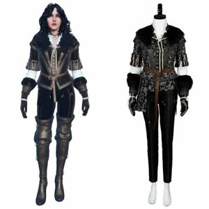 Yennefer Cosplay Costume Suit Uniform Halloween Outfit Full Set Jacket Pants