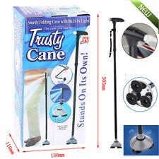 Trusty Cane LED Folding, Walking,Triple Head Pivot Base Hurry  As Seen on TV B6