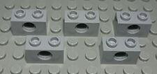 Lego Technic Lochstein 1x2 new Grau 5 Stück                                (390)