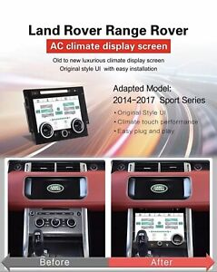 Range Rover Sport L494 Climate Control Touch LCD Screen Upgrade 2013-2017 UK