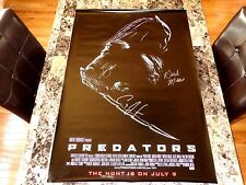 Predators Cast Signed Movie Poster Derek Mears Carey Jones Brian Steele COA Card