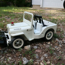 Tonka AA Jeep Tow Truck Vintage White pressed steel 60s Toy with plow