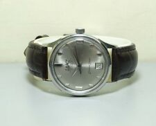 VINTAGE Camy Super Automatic Day DATE Seven Seas WRIST WATCH e1075 used antique